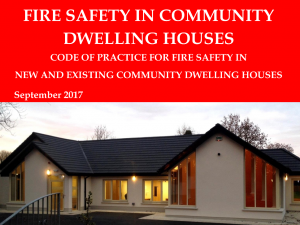 Fire Safety in Community Dwelling Houses
