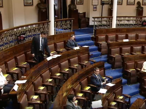 Social Distancing underway in the Dáil Chambers