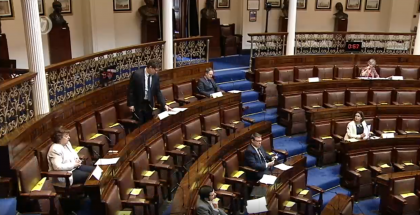 Social Distancing in the Dáil