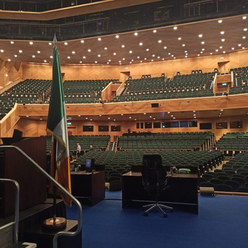Sitting of 33rd Dáil at the Convention Centre